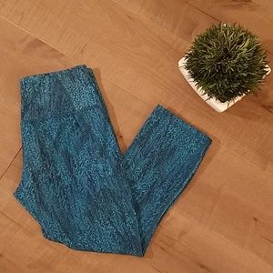Patagonia | centered crop tights forest epic blue